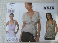 Vogue American Designer 2850 Anna Sui hippy top Sewing Pattern size 12-14-16