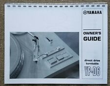 Yamaha YP-D6 Turntable Owners Manual