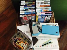 Nintendo DSi Bundle Aqua Blue 18 Games Star Wars EXCELLENT Condition