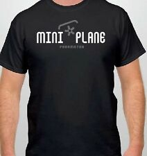 T-Shirt: Miniplane Paramotor and Top 80 Engine - Cotton Tee, Black Miniplane-USA