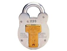 Squire 220 38mm old english steel case padlock HSQ220 shed gate farm