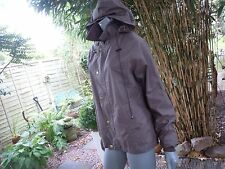 Brown fitted cotton waxed 12/14 crane trail jacket 34-36C COUNTRY WALKS