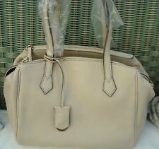 AUTH FENDI BOSTON BAG in Beige Leather