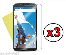 3x HQ CRYSTAL CLEAR SCREEN PROTECTOR COVER SAVER GUARD MOTOROLA GOOGLE NEXUS 6