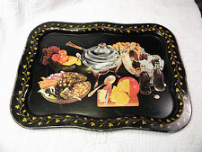 Vintage Coca Cola black metal serving tray buffet fondue fruit appetizers