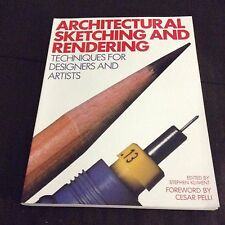 ARCHITECTURAL SKETCHING AND RENDERING ARTISTS BOOK VG CONDITION