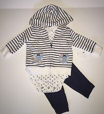 Carter's 3 pc Girl Cardigan Hoody, Bodysuit, Leggings 3 Mo NWT