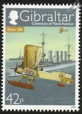 Royal Navy SHORT ADMIRALTY TYPE 184 (Short 225) Aircraft Stamp (2009 Gibraltar)