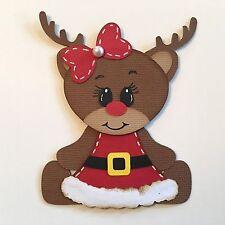 Christmas Cute REINDEER Deer Diecut Embellishment #104 Paper Piecing