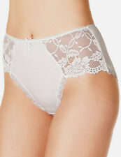 3 X MARKS & SPENCERS BORDURE EN DENTELLE MIDI BLANC SLIP TAILLE 12 UK AFFAIRE