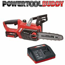 "Heavy Duty Einhell 18v Li-ion Cordless 12"" Chainsaw + 3Ah Battery & Charger"
