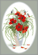 Cross Stitch Kit Poppies DMC threads RTO