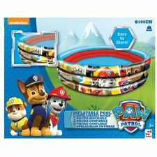 Paw Patrol Inflatable 3 Ring 100cm Play Pool Outdoor