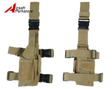 Right Hand Tactical Universal Pistol Gun Drop Leg Thigh Holster Bag Pouch Tan