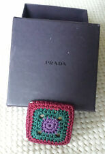 Prada Crochet Pin Brooch with box Italy