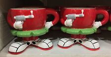 Six Flags Magic Mountain Looney Tunes Marvin The Martian Footed Ceramic Mug New