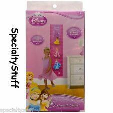NEW DISNEY PRINCESS GROWTH CHART SELF STICK & REMOVABLE TRAC HEIGHT CM & INCH TE