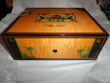 Elie Bleu  Alba Orange Sycamore  Humidor 75 Ct new in the original box