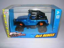 Maisto Fresh Metal 4 x 4 Rebels Jeep Geländewagen blau blue 11,5 cm