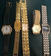 Vintage Men's Five Watch Lot Includes Seiko & Armitron + Pulsar Has a Twist Band