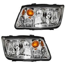 2002 - 2005 VW JETTA HEADLIGHT HEADLAMP LIGHT W/FOG LAMP LEFT AND RIGHT PAIR