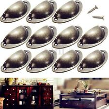 24 Cupboard Door Kitchen Cabinet Furniture Cup Drawer Antique Shell Pull Handles