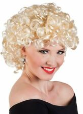Ladies Blonde 50s Sandy Grease Wig Fancy Dress Costume Party New
