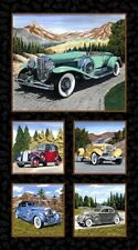 """Exclusively Quilters Classic Cars 61146 8 24""""  Panel --  Cotton Fabric"""