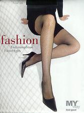 FASHION  Strumpfhose mit feiner Netzoptik, schwarz, 44-46  *MY way*