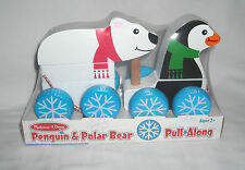 Melissa and Doug Penguin and Polar Bear Pull Along - NEW