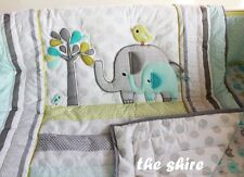 Baby Bedding Crib Cot Quilt Set- NEW 9pcs Quilt Bumper Sheet Dust Ruffle Blanket