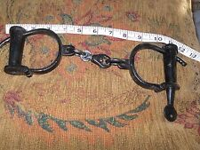Antique Style Fully Functional Cast Iron Shackles Medieval Hand Cuffs Handcuffs