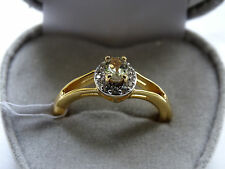 Rare Natural Turkish Diaspore/Csarite & Zircon 14K Y Gold/925 Ring Size O