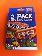 BICYCLE 2 PACK  KIDS CARD GAMES CRAZY 8'S MEMORY