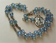 Rosary Chaplet of St Gabriel the Archangel Blue Glass Angel Rosary