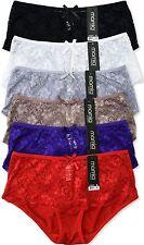 Pack of 6 pcs Lace Hipster/Boyshorts Panties Lot New LP7265PH Size: S