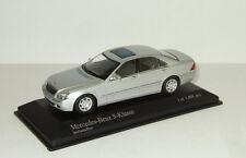 Mercedes Benz S class W220 1998 SILVER Minichamps 1:43 400036201