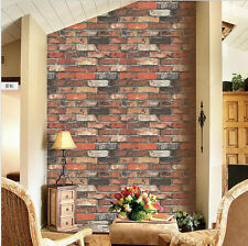10M Roll  Red Brick/Stone Textured Living Room/Bed Room PVC Wallpaper