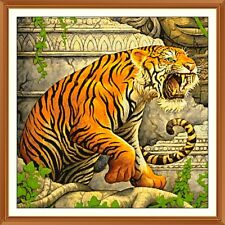 Jungle Book 100 shere khan 50 colours CROSS STITCH CHART 12.0 X 12.0 Inches