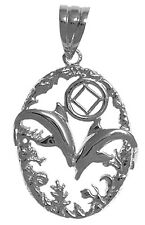 Narcotics Anonymous Jewelry Sterling Dolphin Pendant #914