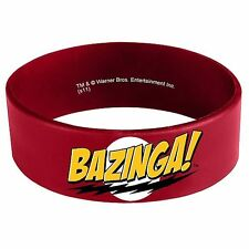 Big Bang Theory Bazinga Sheldon Cooper Red Rubber Licensed Bracelet Wristband