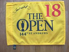 Tom WEISKOPF Signed 2015 Open Golf Flag Autograph AFTAL COA