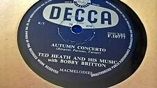 TED HEATH AUTUMN CONCERTO & THE FOOL OF THE YEAR DECCA F10777
