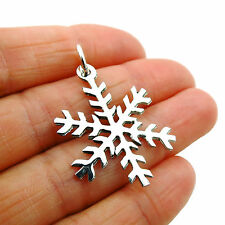 Snow Flake Sterling 925 Silver Winter Weather Snowflake Pendant