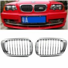 Chrome Front Kidney Grill Grille For BMW E46 M3 325Ci 330Ci 328 3Series 2D 99-03