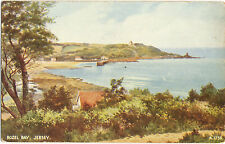 Rozel Bay,Jersey A1738(Valentine Art Colour from E.W.Trick original water colour
