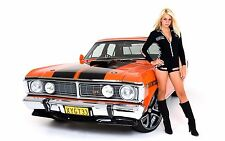 "Muscle car Girl Poster 19""x 13"""