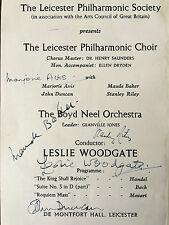 MUSICIAN AUTOGRAPHS , LESLIE WOODGATE ,GRANVILLE JONES,S.RILEY ETC (BEATLES)
