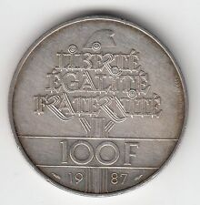 MONNAIE 100  FRANCS  LA FAYETTE   EN ARGENT  1987   SYLVER COIN  1