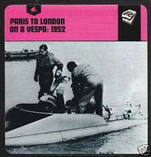 PARIS TO LONDON ON A VESPA SCOOTER 1952 History CARD